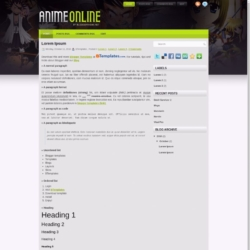 Anime Online Blogger Template