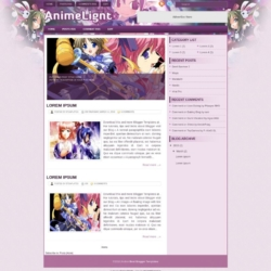 AnimeLight Blogger Template