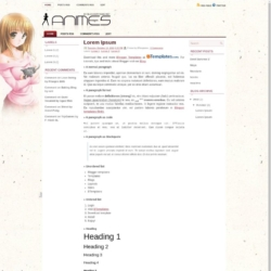 Animes Blogger Template