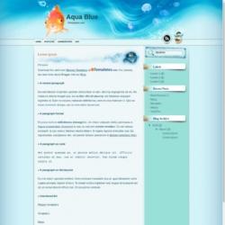 Aqua Blue Blogger Template