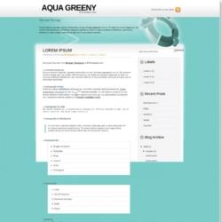 Aqua Greeny Blogger Template