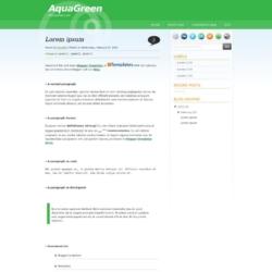 AquaGreen Blogger Template