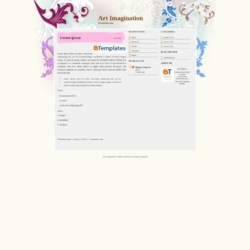 Art Imagination Blogger Template