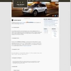 Auto Review Blogger Template