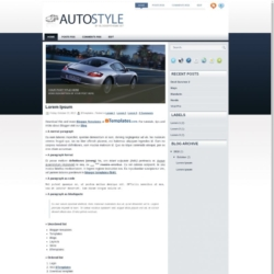 Auto Style Blogger Template