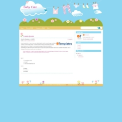 Baby Cute Blogger Template