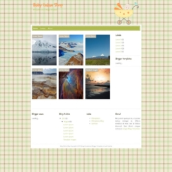 Baby Online Shop Blogger Template