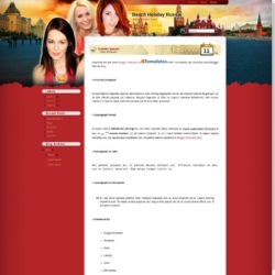 Beach Holiday Russia Blogger Template