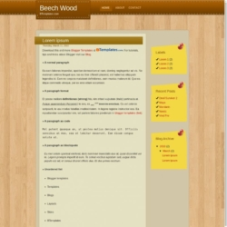 Beech Wood Blogger Template