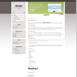Binder Blogger Template