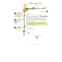 Birdie's Spring Time Blogger Template