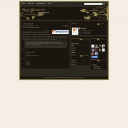 Black Brown Art Blogger Template