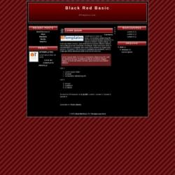 Black Red Basic Blogger Template