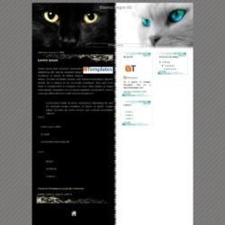 Blanco Negro 02 Blogger Template
