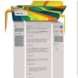 Block 3D Blogger Template