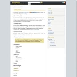 Blog Base Blogger Template