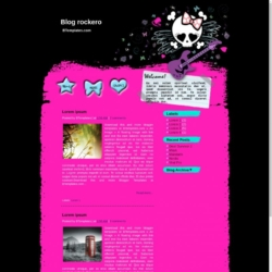Blog Rockero Blogger Template