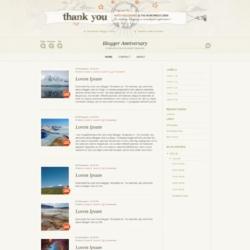Blogger Anniversary Blogger Template