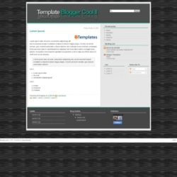 Blogger Cool Blogger Template