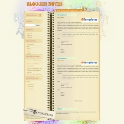 Blogger Notes Blogger Template