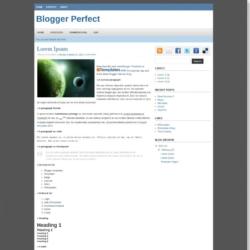 Blogger Perfect Blogger Template
