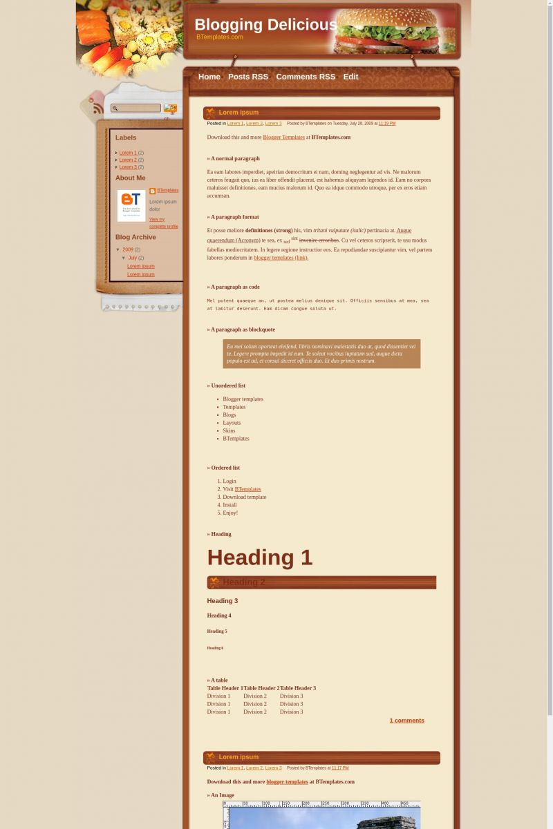 Download Blogging Delicious Blogger Template