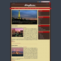 BlogNotes Blogger Template