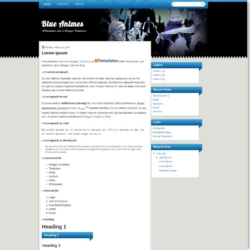 Blue Animes Blogger Template