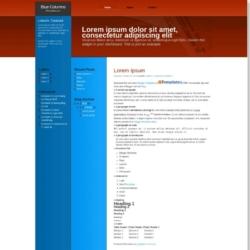 Blue Columns Blogger Template
