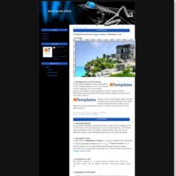 Blue Dark Frog Blogger Template