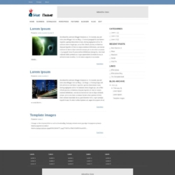 Blue Flame Blogger Template