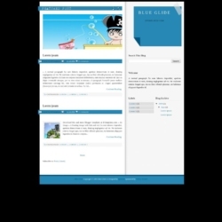 Blue Glide Blogger Template