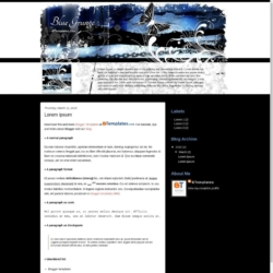 Blue Grunge Blogger Template