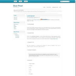 Blue Pearl Blogger Template