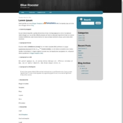 Blue Rooster Blogger Template