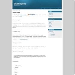 Blue Simplicity Blogger Template