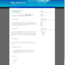 Blue Spiral 2.0 Blogger Template