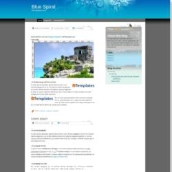 Blue Spiral Blogger Template