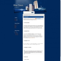 Blue Town Blogger Template