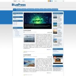 BluePress Blogger Template
