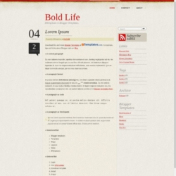 Bold Life Blogger Template