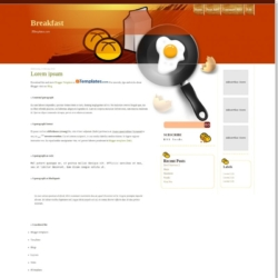 Breakfast Blogger Template