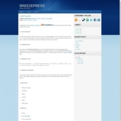 Breezepress Blogger Template