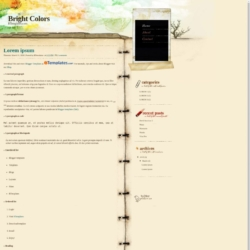 Bright Colors Blogger Template