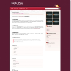 Bright Pink Blogger Template