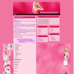 Britney Spears Candies Blogger Template