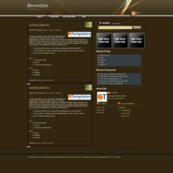 Brownline Blogger Template