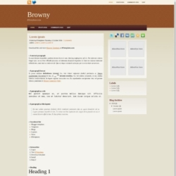 Browny Blogger Template