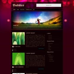 Bubbles Blogger Template