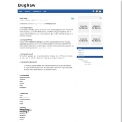 Bughaw Blogger Template